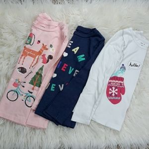 Carter's three long sleeve shirts size 6